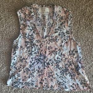 Anthropologie Cloth & Stone animal print tie dye